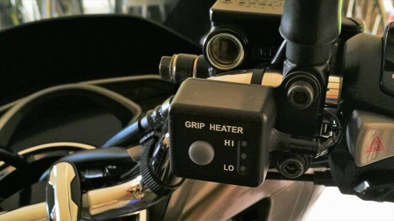 グリップヒーターのインジケーター2