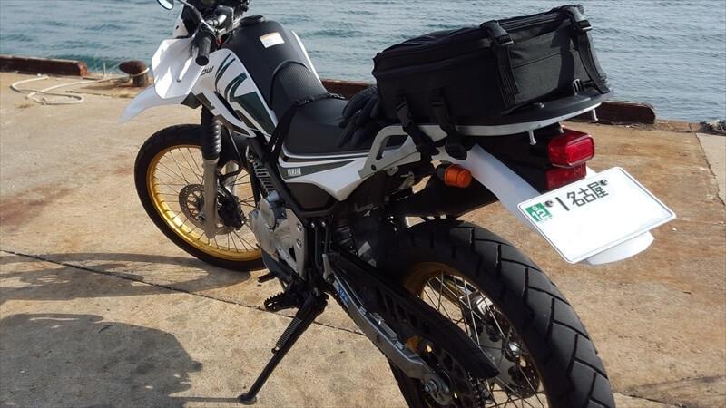 バイクのナンバープレート