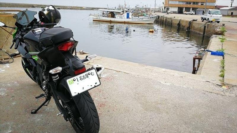 バイクのナンバープレート防犯対策