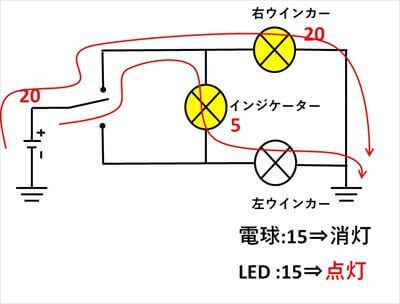インジケーター1つの回路構成