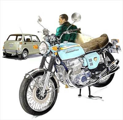 バイクを擬人化する