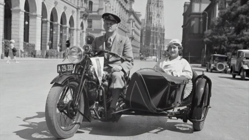 第1次大戦前後のサイドカー