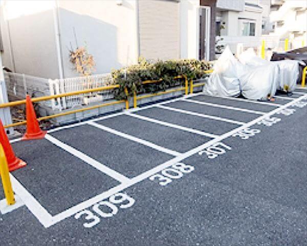 敷地外のバイク屋外駐車場を探す