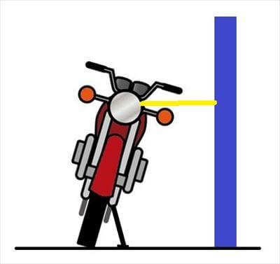 固定物とバイクをタイダウンする