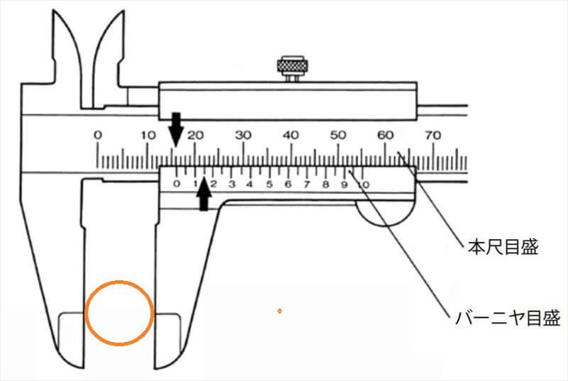 ノギスで寸法の測り方