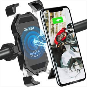Oasser バイク ワイヤレス充電ホルダー Qi+USB充電兼用