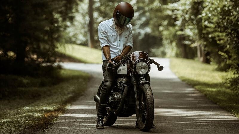 バイクとのツーショット