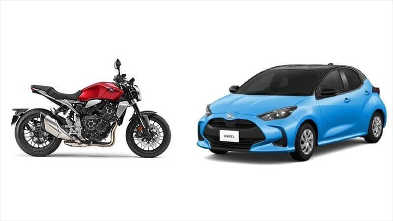 バイクと車の性格を比較