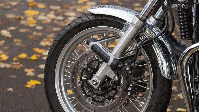 バイクのディスクロックはABUS傾斜センサーアラーム